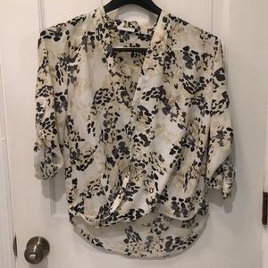 NY&Co Floral Wrap Blouse